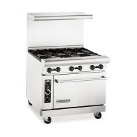 American Range Commercial Gas Range With 6 Burner AR-6 - 227,000 BTU/Hr