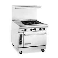 American Range Commercial Gas Range With Griddle AR12G-4B - 183000 BTU/Hr