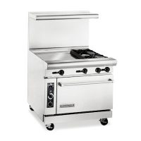 American Range Commercial Gas Range With Griddle AR24G-2B - 139000 BTU/Hr