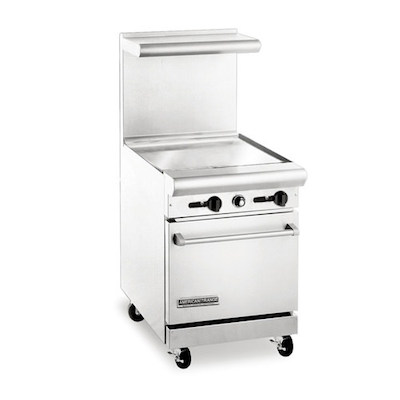 American Range Commercial Gas Range with Griddle AR24G - 67,000 BTU/Hr