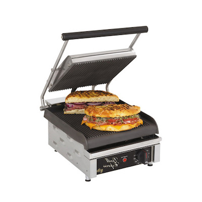 Star Max Commercial Grooved Sandwich Grill GX10IG - 175¬°F to 450¬°F