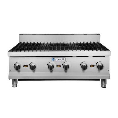 Eurodib Commercial Gas Hot Plate HP636 - 180,000 BTU/Hr