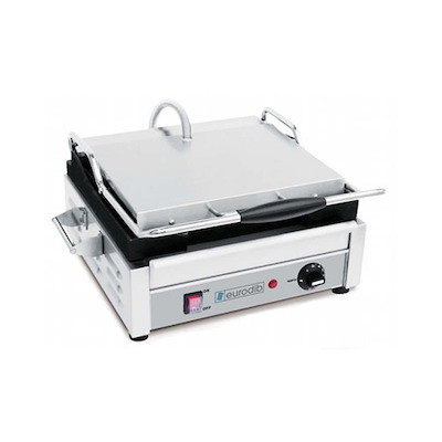 Eurodib Commercial Grooved Sandwich Grill SFE02325 - 1800Watts