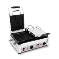 Eurodib Commercial Grooved Sandwich Grill SFE02365 - 2900Watts