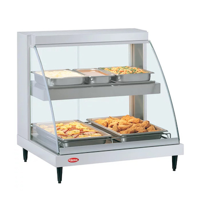 """Hatco Curved Heated Display Case GRCD-2PD - 32"""""""