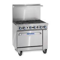 Imperial Commercial Gas Range with Griddle IR-2-G24 - 139000 BTU/Hr