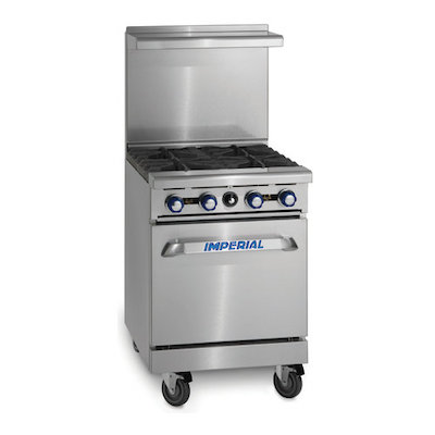 Imperial Commercial Gas Range with Griddle IR-G24 - 67,000 BTU/Hr