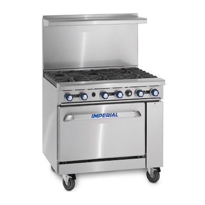 Imperial Commercial Gas Range with Griddle IR-G36 - 95,000 BTU/Hr