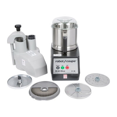 R301-ULTRA-DICE Robot Coupe Continuous Feed Food Processor R301-ULTRA-DICE - 3.5 Qt Stainless Steel Bowl