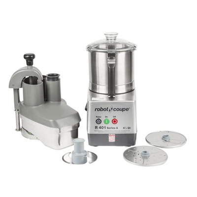 R401 Robot Coupe Continuous Feed Food Processor R401 - 4.5 Qt Stainless Steel Bowl