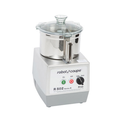 R502 Robot Coupe Continuous Feed Food Processor R502 - 5.5 Qt Stainless Steel Bowl