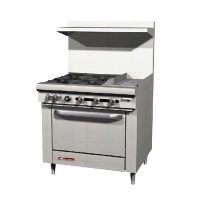 Southbend Commercial Gas Range With Griddle S36D-1G - 165000 BTU/Hr