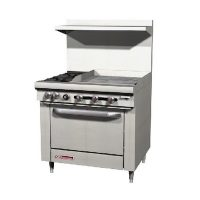 Southbend Commercial Gas Range With Griddle S36D-2G - 139000 BTU/Hr