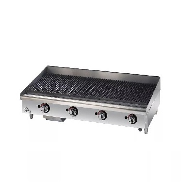 Star Max Commercial Gas Charbroiler 6148RCBF - 140,000 BTU/Hr