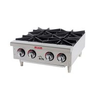 604HF Star Max Commercial Gas Hot Plate 604HF - 100,000 BTU/Hr