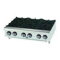 606HF Star Max Commercial Gas Hot Plate 606HF - 150,000 BTU/Hr