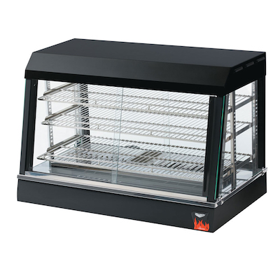 """40733 Vollrath Angled Glass Countertop Heated Display Case 40733 - 26"""""""