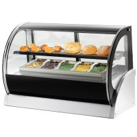 40855 Vollrath Curved Glass Countertop Heated Display Case 40855 - 36""