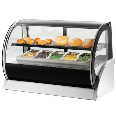 """40855 Vollrath Curved Glass Countertop Heated Display Case 40855 - 36"""""""