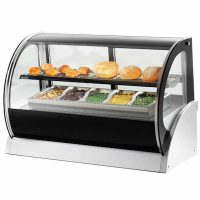 40857 Vollrath Curved Glass Countertop Heated Display Case 40857 - 60""