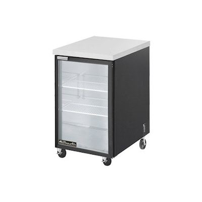 "Blue Air Back Bar Refrigerator BBB23-1BG - 24"", Glass Door"