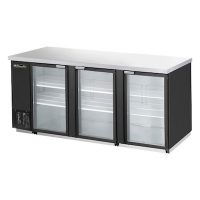"Blue Air Back Bar Refrigerator BBB90-4BG - 90"", Glass Door"
