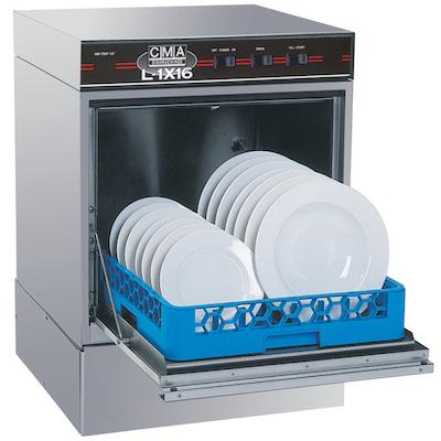 CMA Undercounter Dishwasher L-1X16 - 30 Racks/Hr, Low Temp