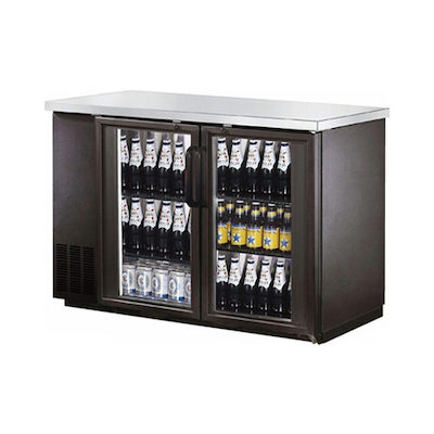 "EFI Back Bar Refrigerator CBBGD2-48CC - 48"", Glass Door"