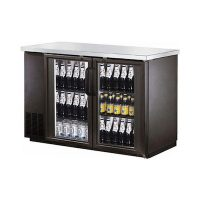 "EFI Back Bar Refrigerator CBBGD2-60CC - 60"", Glass Door"