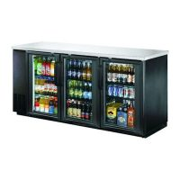 "EFI Back Bar Refrigerator CBBGD3-72CC - 72"", Glass Door"