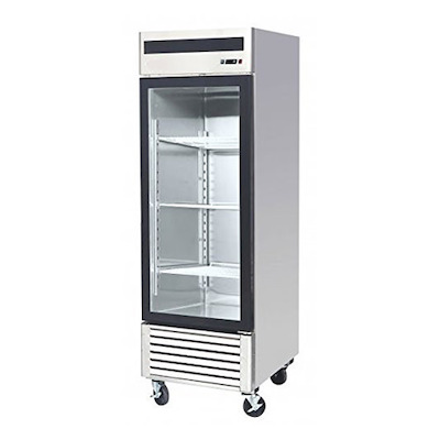 EFI Glass Reach In Refrigerator C1-27GDSVC - One Door