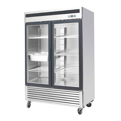 EFI Glass Reach In Refrigerator C2-54GDSVC - Two Door