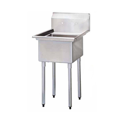 "EFI One Tub Sink - No Drain Board SI818-1NC - 18""x18""x11"""