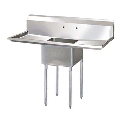 """EFI One Tub Sink - Two Drain Boards SI818-1BC - 18""""x18""""x11"""""""