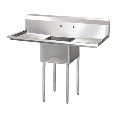 """EFI One Tub Sink - Two Drain Boards SI824-1B - 24""""x24""""x14"""""""