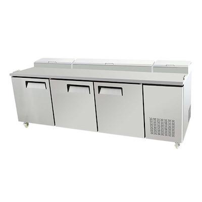 """EFI Pizza Prep Refrigerator CPDR3-93VC - 93"""""""