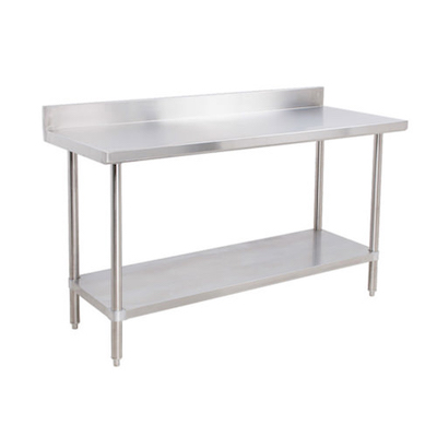 """EFI Stainless Steel Work Table With Back Splash TB2472 - 24"""" x 72"""""""