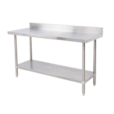 "EFI Stainless Steel Work Table With Back Splash TB3084 - 30"" x 84"""