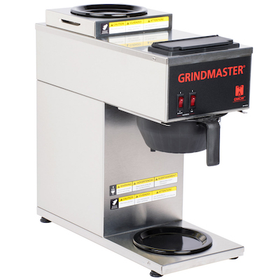 CPO-2P-15A Grindmaster Pour-Over Decanter Coffee Brewer CPO-2P-15A - 2 Warmer