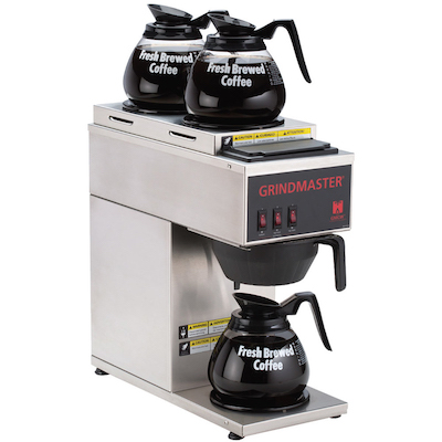 CPO-3P-15A Grindmaster Pour-Over Decanter Coffee Brewer CPO-3P-15A - 3 Warmer