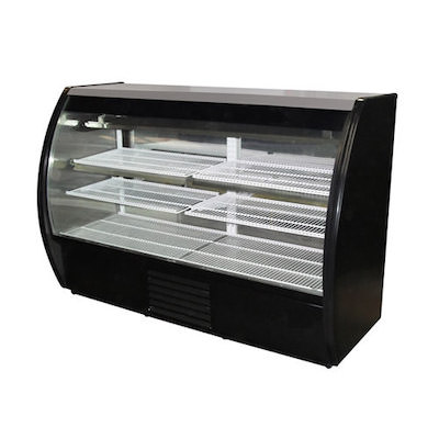 Howard McCray Floor Refrigerated Display Case MIRAGE-ELITE-4-DC - Curved Glass