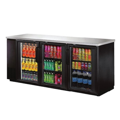 """New Air Back Bar Refrigerator NBB-90-SG - 90"""", Glass Door"""