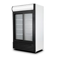 New Air Glass Merchandising Refrigerator NGR-080-S - 40""