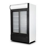 "New Air Glass Merchandising Refrigerator NGR-120-S - 53"""