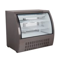 New Air Refrigerated Deli Case NDC-018-CG - Curved Glass