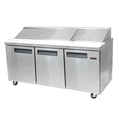 New Air Salad/Sandwich Prep Table NPT-070-SA - Three Door