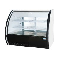 "Ojeda Floor Refrigerated Deli Case VENUS-3R - 36"", Curved Glass"