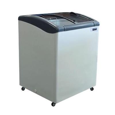 """Ojeda Glass Top Ice Cream Freezer NB-28 - 28"""""""