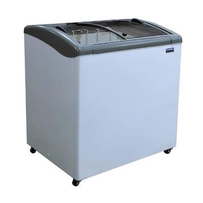 """Ojeda Glass Top Ice Cream Freezer NB-34 - 34"""""""