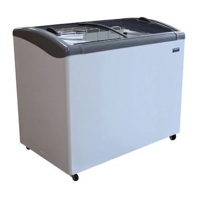 """Ojeda Glass Top Ice Cream Freezer NB-43 - 43"""""""